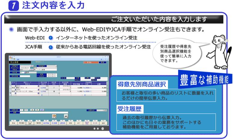 システムエース 販売管理システム Ace21 業務の流れ 1注文内容を入力