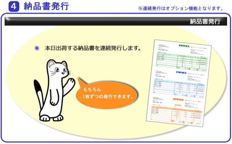 システムエース 販売管理システム Ace21 業務の流れ 4納品書発行