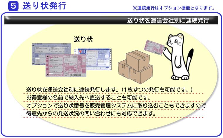 システムエース 販売管理システム Ace21 業務の流れ 5送り状発行